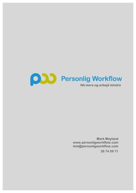 Download materiale om kurser fra Personlig Workflow