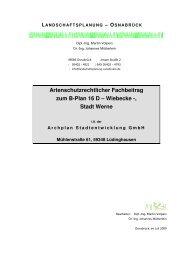 Entwurf Artenschutzbeitrag B-Plan Wiebecke - O-sp.de