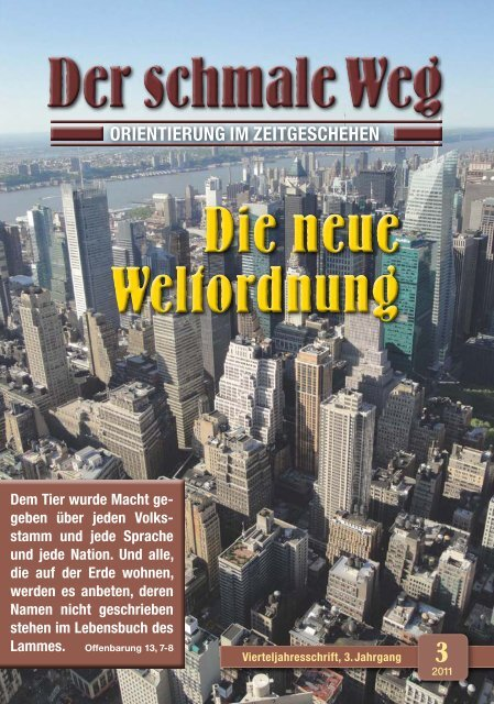 Neue Weltordnung Dr Lothar Gassmann