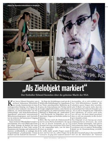 Snowden in Der Spiegel - Cryptome