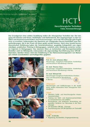 Herzchirurgische Techniken Fokus Koronarchirurgie