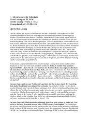 1. Adventsonntag im Lukasjahr: Erste Lesung Jer 33 - Maria Namen