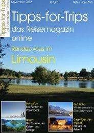 Tipps-for-Trips das Reisemagazin online Ausgabe November 2013