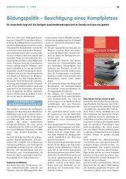 Bildungspolitik – Besichtigung eines Kampflplatzes - beim LCH