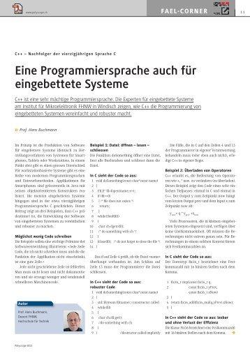 Eine Programmiersprache auch für eingebettete Systeme