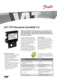 VLT® PTC Thermistor Card MCB 112 - Danfoss
