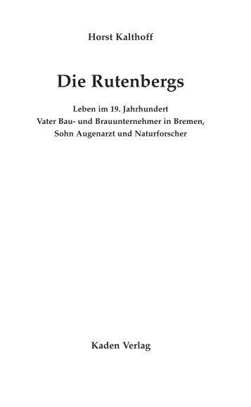 Die Rutenbergs - Kaden Verlag