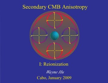 Secondary CMB Anisotropy I: Reionization