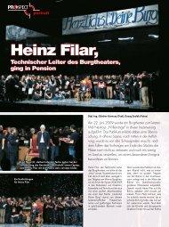Ein Fest für Heinz Filar – Der technische Leiter des Burgtheaters ...