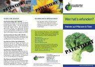 Patente auf Pflanzen & Tiere - Umweltinstitut München e.V.