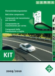INA Riementriebkomponenten Pkw Kit 2009/2010 - Schaeffler Group