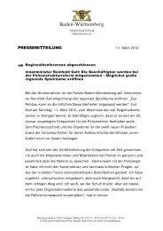 Regionalkonferenzen beendet - Polizei Baden-Württemberg