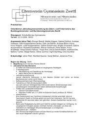 Protokoll der Ordentlichen Jahreshauptversammlung des Eltern ...