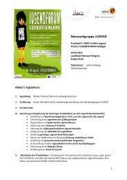 Protokoll 3. NWG-Treffen Jugendforum - Südburgenland Plus