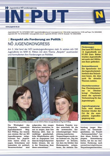 Input_Juni 2012 - Jugendreferat für Niederösterreich