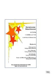 1 Zum gemeinsame Adventskonzert 2006 laden wir ... - Forst in Baden