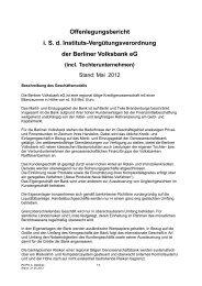 Offenlegungsbericht i. S. d. Instituts-Vergütungsverordnung der ...