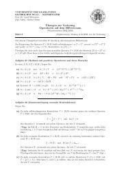 Ubungen zur Vorlesung Operatoren auf dem Hilbertraum - Mathematik