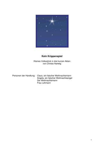 Kein Krippenspiel - Blog.de