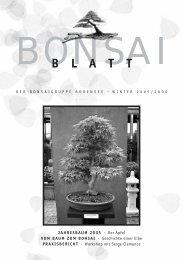 B L A T T - bei der Bonsaigruppe Bodensee
