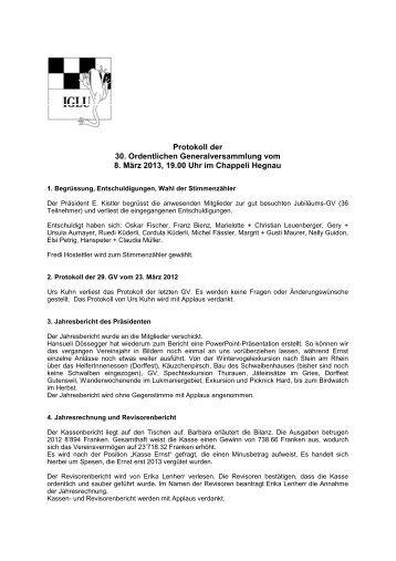 GV-Protokoll 2013 (PDF, 18.0 Kb) - BirdLife Zürich