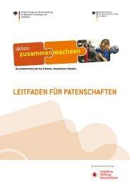 LEITFADEN FüR PATENSCHAFTEN - Aktion Zusammen Wachsen