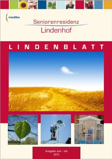 Ausgabe Juni - Juli 2013 - Seniorenresidenz Lindenhof