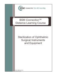 Sterilization of Ophthalmic Surgical Instruments and Equipment BSM ...