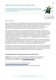 KinderuniWien 2013: Die Sponsionsfeier naht! - Kinderbüro ...