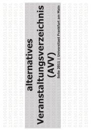 AlternativesVeranstaltungsVerzeichnis SoSe 2011 - Fachschaft 04