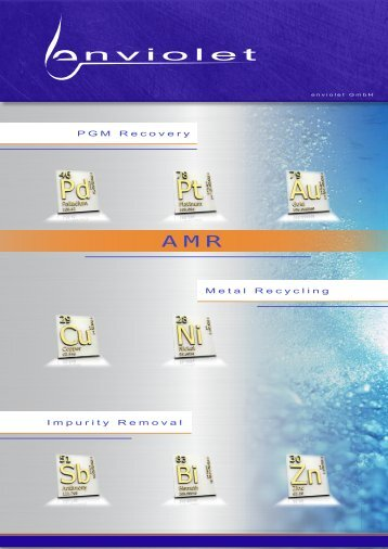 Metal Recycling Impurity Removal PGM Recovery - enviolet.com