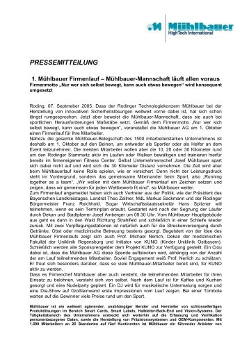 PRESSEMITTEILUNG - Kuno