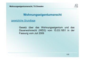 Wohnungseigentumsrecht - Prof-rauch-tu-dresden.de