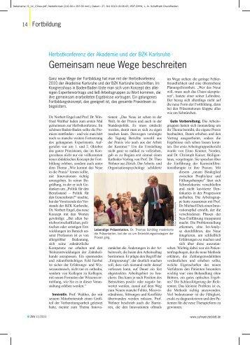 Gemeinsam neue Wege beschreiten - Akademie für Zahnärztliche ...
