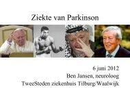Ziekte van Parkinson - TweeSteden ziekenhuis Tilburg ... - GeriCare