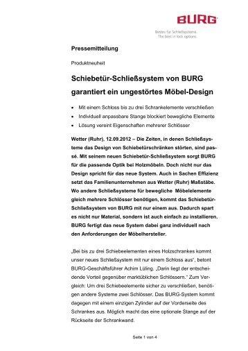 Schiebetür-Schließsystem von BURG garantiert ein ungestörtes ...