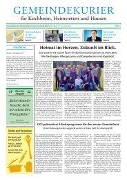 Gemeindekurier November 2013, Ausgabe 3
