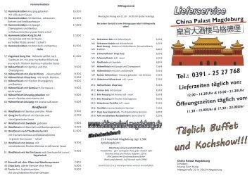 Speisekarte hier - chinapalast-magdeburg.de