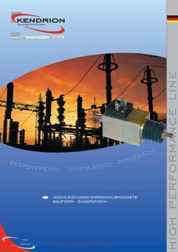 Download: HIGH PERFORMANCE LINE Katalog - Kendrion Binder