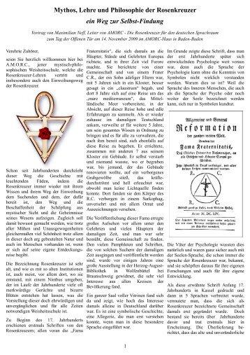 Mythos, Lehre und Philosophie der Rosenkreuzer ein Weg ... - Amorc
