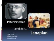 Peter Petersen und der Jena-Plan - Dr. Hans Toman