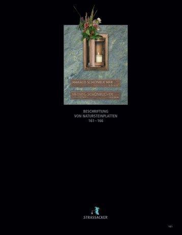 BESCHRIFTUNG VON NATURSTEINPLATTEN 161– 166