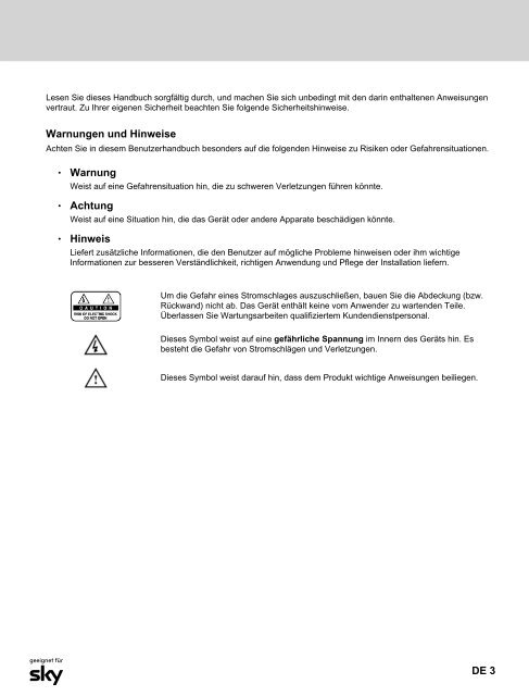 Humax Pr-Hd 1000 Bedienungsanleitung