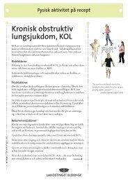 Kronisk obstruktiv lungsjukdom, KOL - Landstinget Blekinge