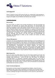 Daten und Fakten - Weiss IT Solutions