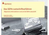 Allgemeine Informationen zur SEPA-Lastschrift - Sparkasse Worms ...