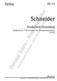 Schneider - Schott Music