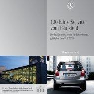 100 Jahre Service vom Feinsten! - Mercedes-Benz Niederlassung ...