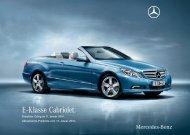 Preisliste Mercedes-Benz  E-Klasse Cabriolet ( A207) vom 12.01.2010.