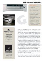 Meridian G91 Datenblatt